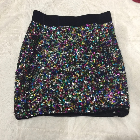 re:named Other - Re: named girls youth sequin multi-color skirt